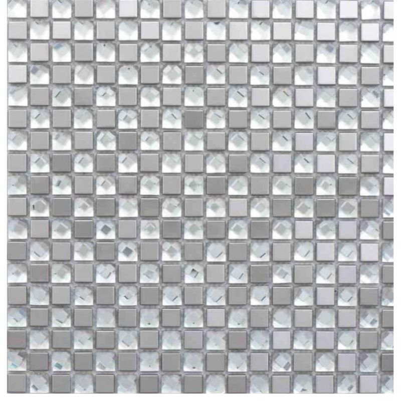 Mini Crystal Metal Mirror Mosaic Tile